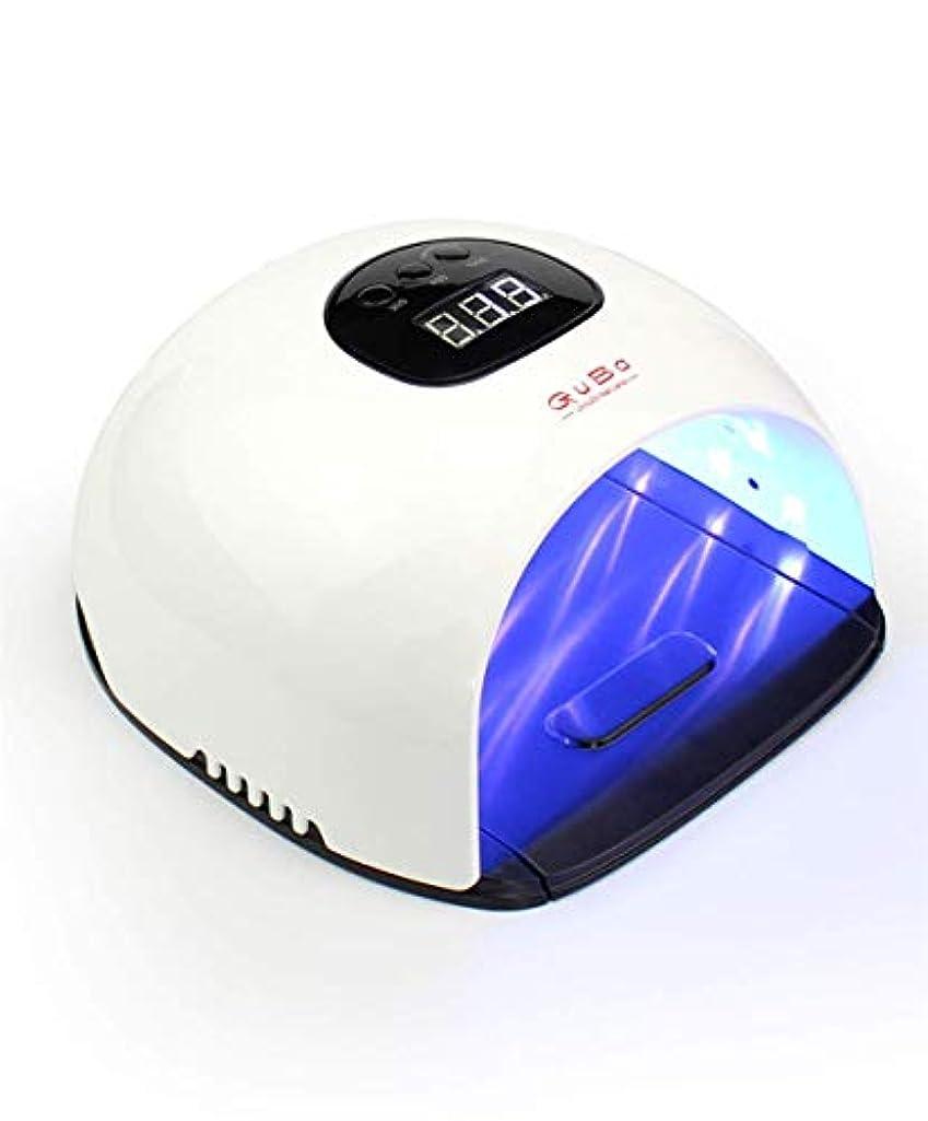 先生泥棒与えるマニキュア液晶ディスプレイuv用器具ネイル用48ワット紫外線療法ジェルポリッシュランプネイルライトドライヤー機器
