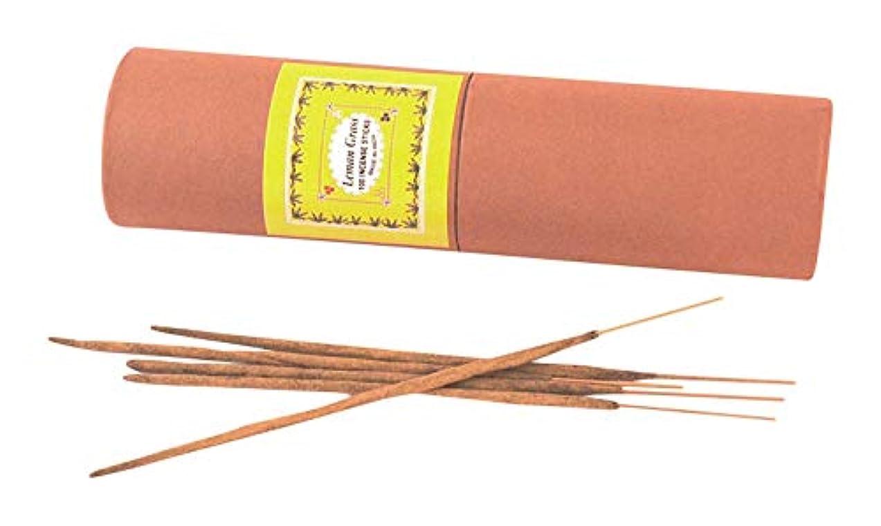 ポップシビック仕立て屋My Earth Store Lemon Grass Hand Made Incense Stick (4 cm x 4 cm x 24 cm, Green)