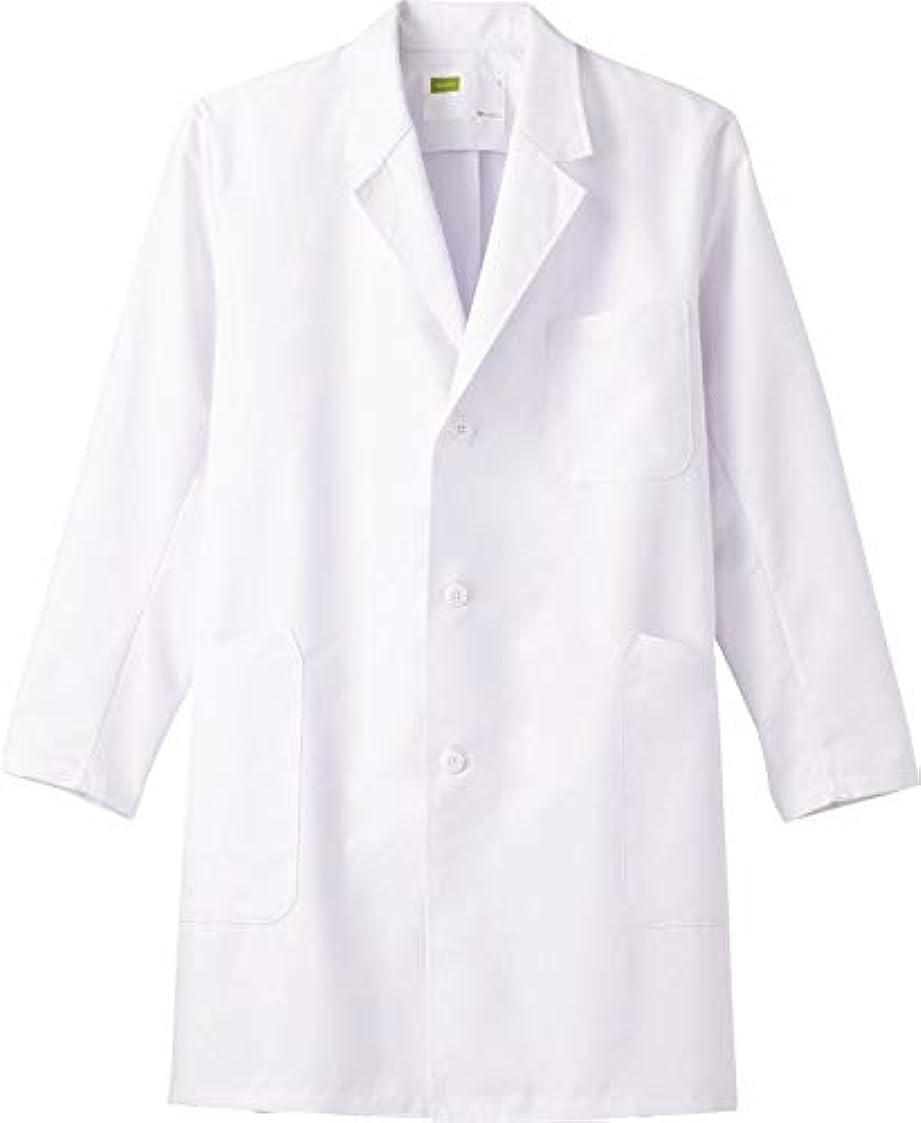 物理学者最小肘ハーフ丈 白衣 メンズシングルハーフコート メディカルウェア (3L) WH11507