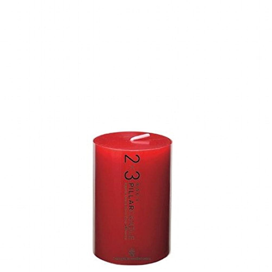 タンク守る統治可能カメヤマキャンドル( kameyama candle ) 2×3ピラーキャンドル 「 レッド 」