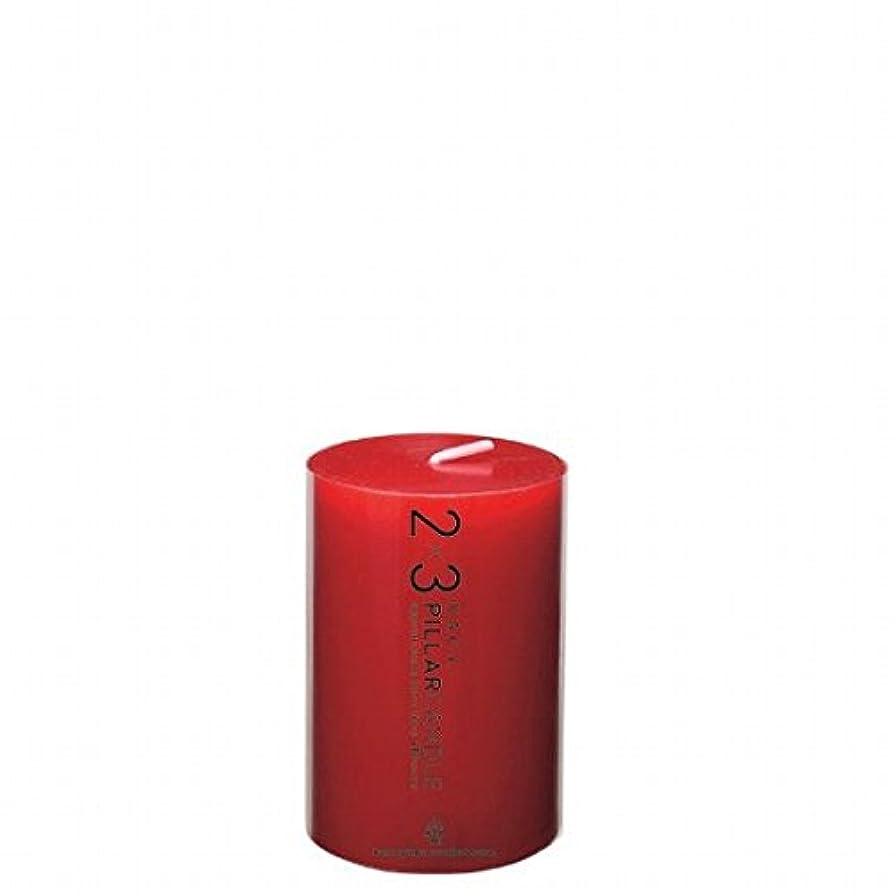 お手入れあなたが良くなりますハグカメヤマキャンドル( kameyama candle ) 2×3ピラーキャンドル 「 レッド 」