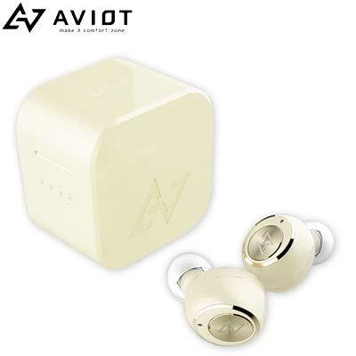 AVIOT TE-D01g Bluetooth イヤホン 完全ワイヤレスイヤホン iPhone Android 対応 Bluetooth Ver.5.0 防水 IPX7 通話 マイク ノイズキャンセリング (Ivory)