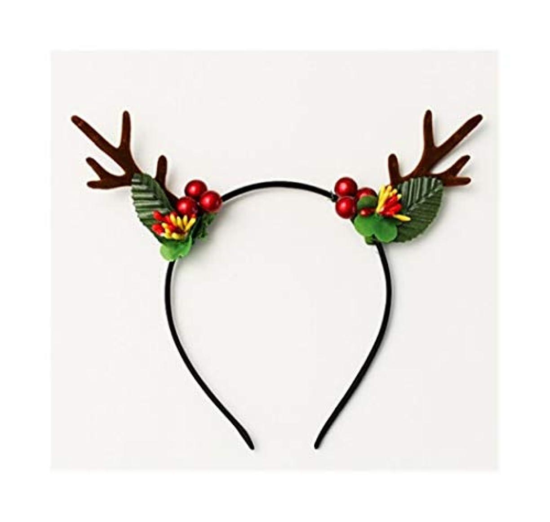 ジレンマ免疫する手伝うフルーツ枝角は、ヘッドバンドクリスマスのヘアアクセサリーは、かわいい女の子のハート鹿が女性のシンプルなの枝角ヘッドバンドヘアピン帽子 (Style : D)