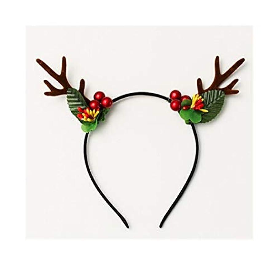 嘆願一緒に港フルーツ枝角は、ヘッドバンドクリスマスのヘアアクセサリーは、かわいい女の子のハート鹿が女性のシンプルなの枝角ヘッドバンドヘアピン帽子 (Style : D)