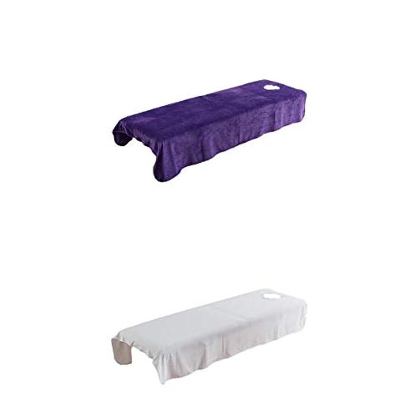 投票頭痛引用2枚 マッサージベッドカバー 有孔 エステベッド スパ 美容ベッド シーツ クリスタルベルベット生地