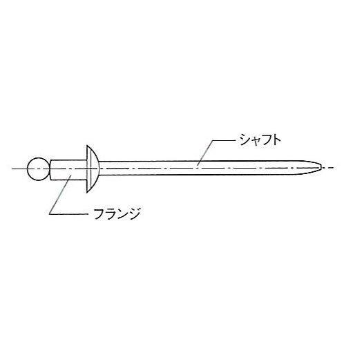トップ工業 TAPD-42BSP [アルミニウムフランジ・スチールシャフトリベット(リベット呼径3.2mm/推奨カシメ板厚1.6~3.2mm/60本入り)] 家庭日用品
