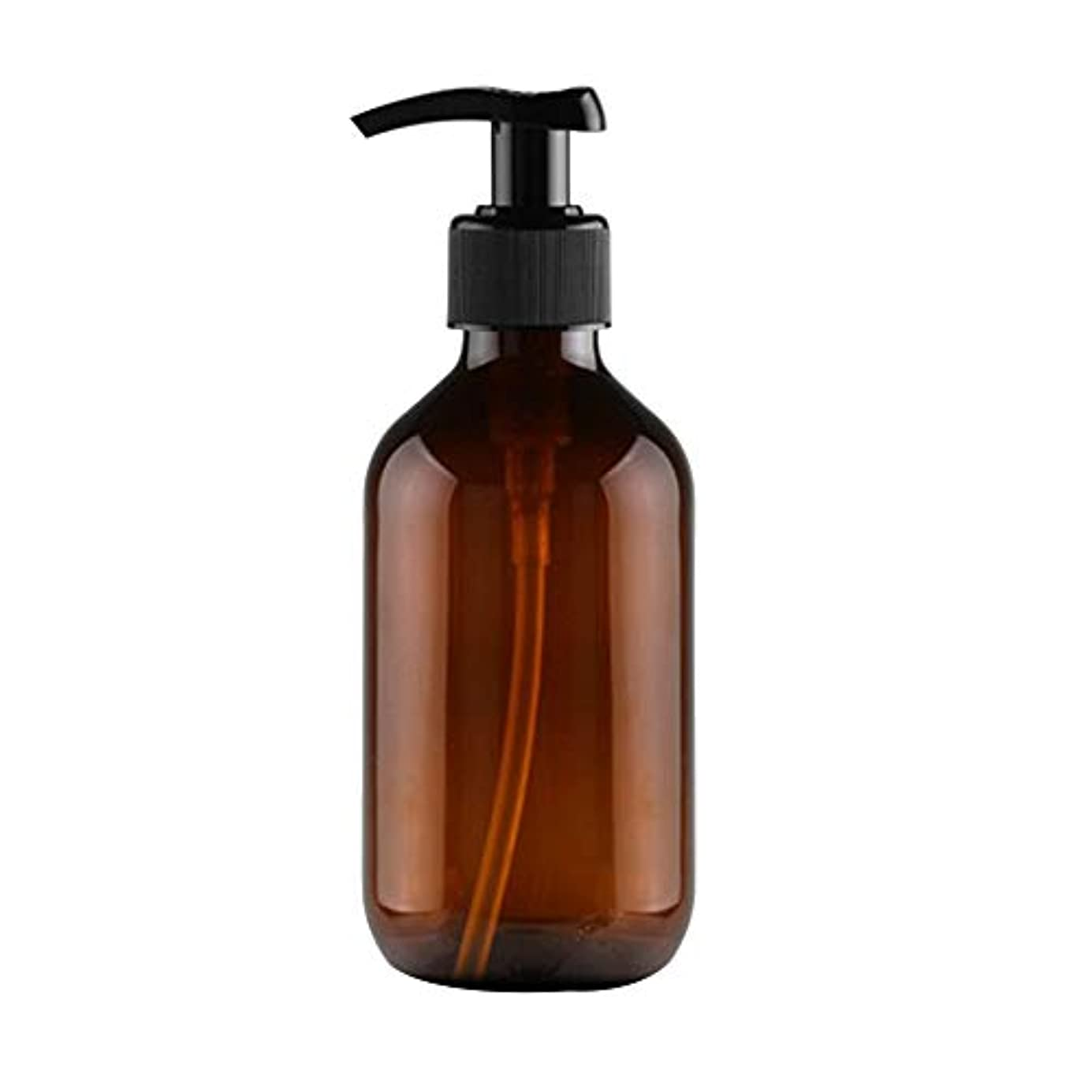Vi.yo 小分けボトル ポンプボトル 押し式詰替用ボトル 携帯用 旅行 出張用 シャンプー 乳液など入り トラベルボトル 300ml ブラウン