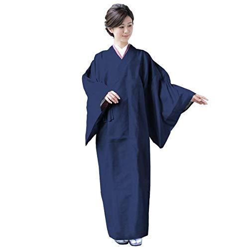 [キョウエツ] 雨コート 和装 着物レインコート レディース (M, 紺)