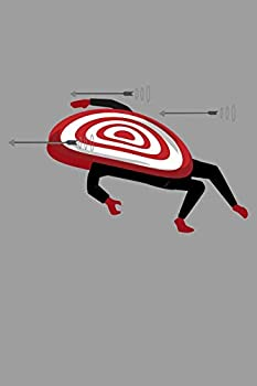 Notebook: Funny Bullseye Targets Bow & Arrow Black Lined Journal Notebook Writing Diary - 120 Pages 6 x 9