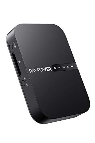 RAVPower Wi-Fi SDカードリーダー 【ワイヤレス共有/高速デー...
