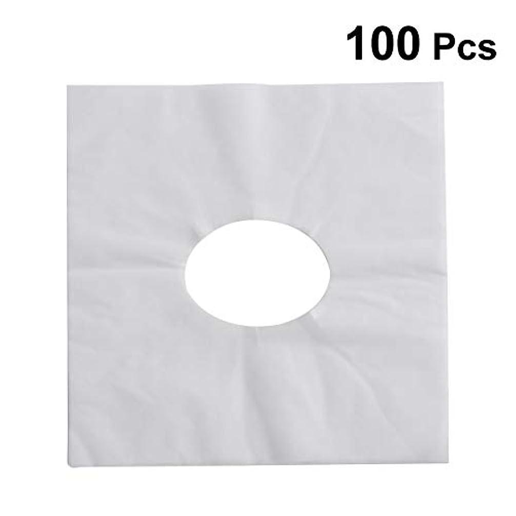 発表巻き取りボルトHEALIFTY 使い捨てフェイスカバーパッドフェイスホールピロークッションマットSPA 100個入(ホワイト)