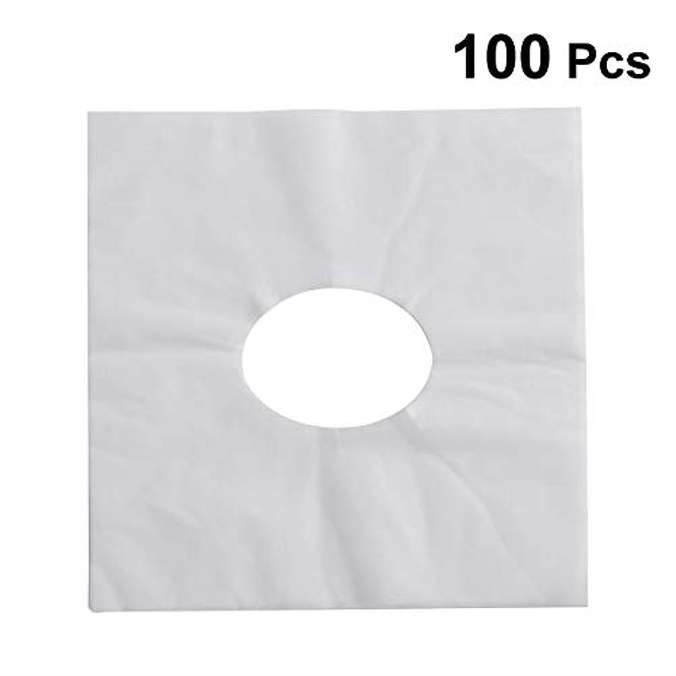 HEALIFTY 使い捨てフェイスカバーパッドフェイスホールピロークッションマットSPA 100個入(ホワイト)
