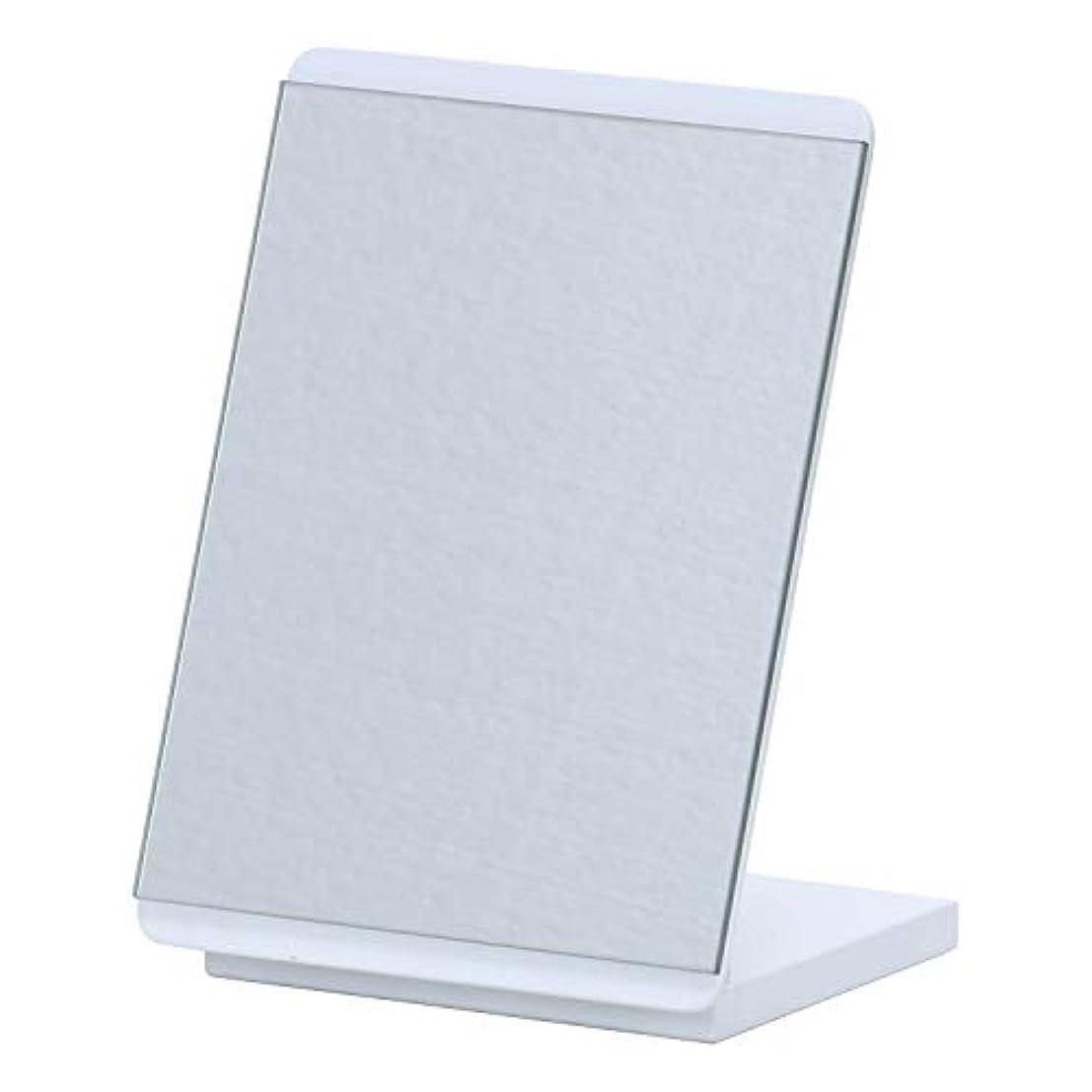 乳剤監督する賞賛する不二貿易(Fujiboeki) ミラー ホワイト 幅16×高さ22cm カラーミラー 卓上 ロセット 14426