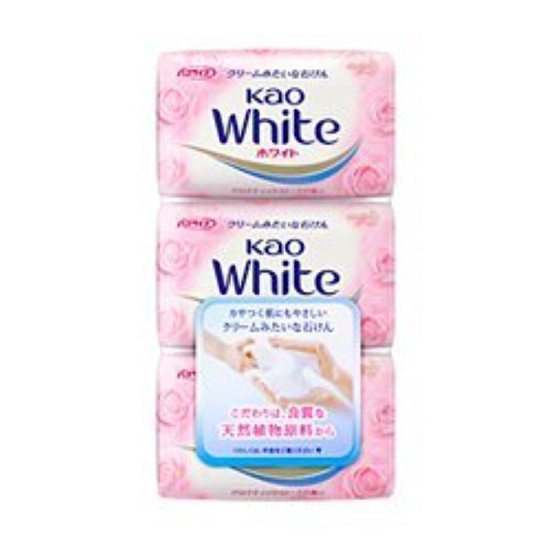 落ち着くバイオリニスト消毒する【花王】花王ホワイト アロマティックローズの香り バスサイズ (130g×3個) ×5個セット