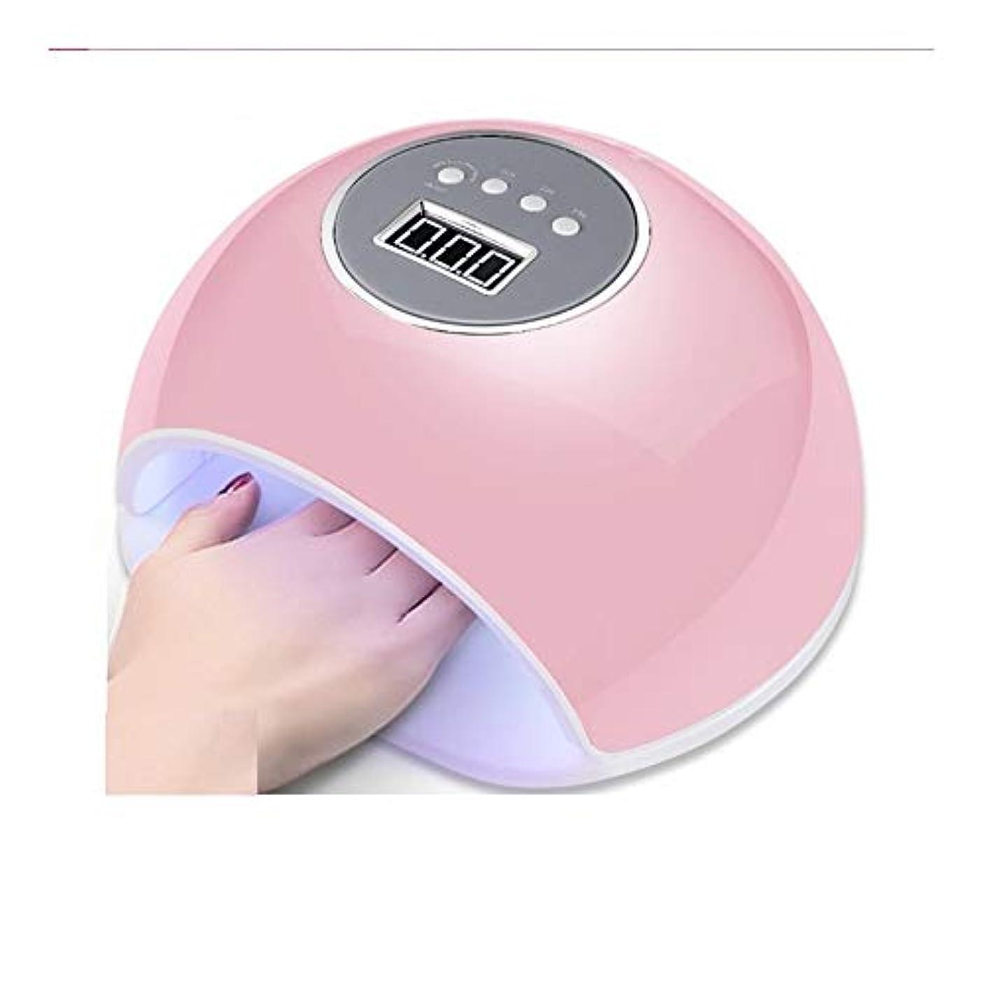 誇張する調停者染色LittleCat ネイルツールUVLEDユニット72WネイルUVランプネイルポリッシュデュアル光源ランプベーキングゴム四スピードセンシングタイミング (色 : Pink beauty)