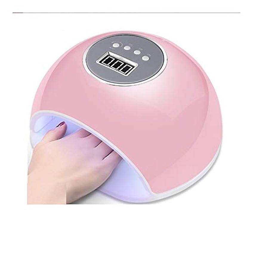 残高スーツステーキLittleCat ネイルツールUVLEDユニット72WネイルUVランプネイルポリッシュデュアル光源ランプベーキングゴム四スピードセンシングタイミング (色 : Pink beauty)