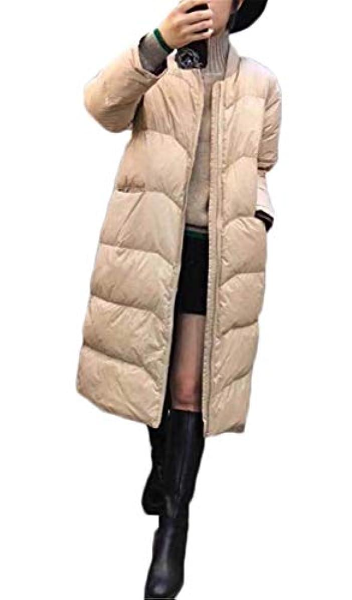 潤滑する完全に乾く怖がらせる(グードコ) レディース ダウンジャケット ライトダウン コート アウター 軽量 ロングコート 中綿入れ 大きいサイズ 大人 防風
