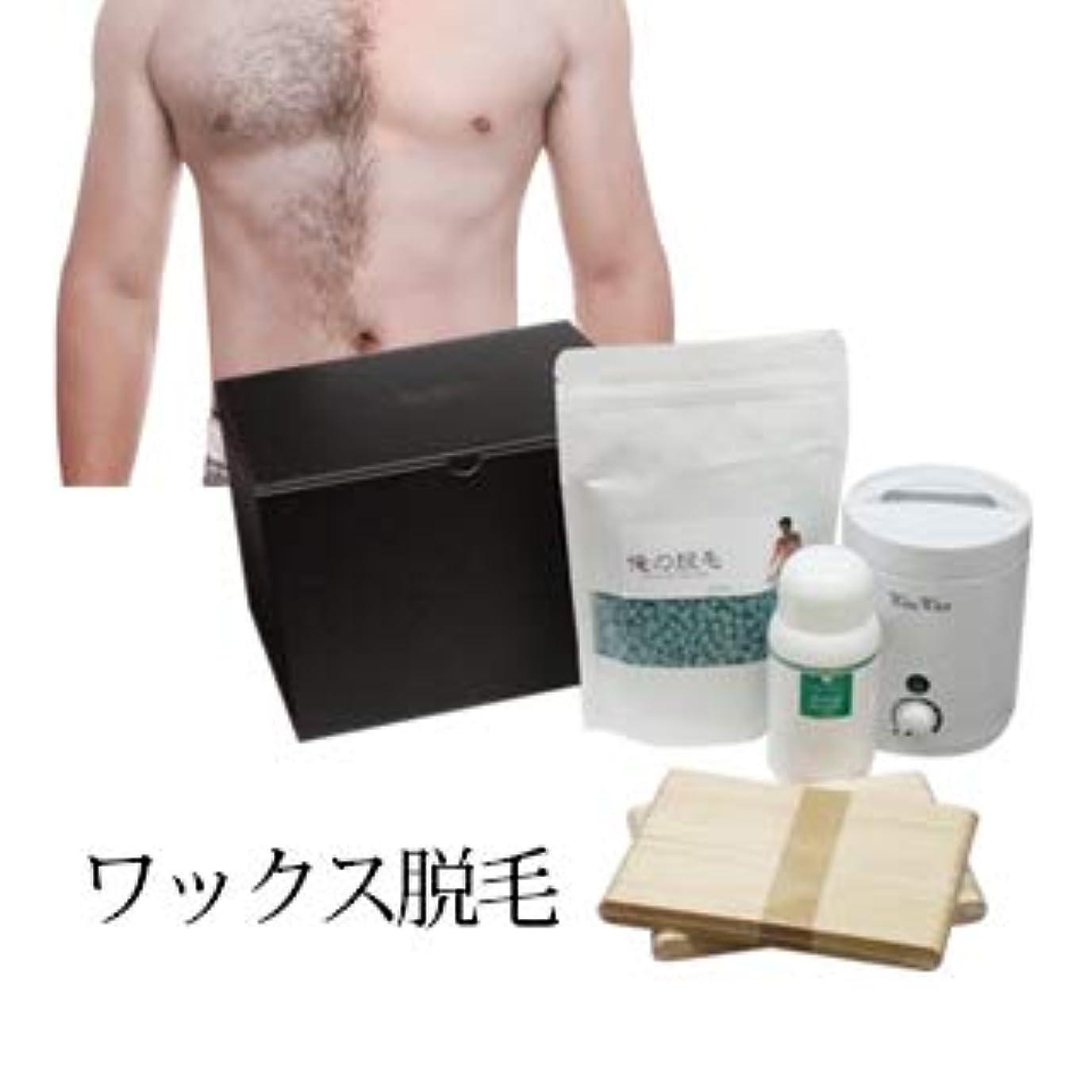 受信わな投票【メンズ 俺の脱毛】WaxWax ワックス脱毛キット