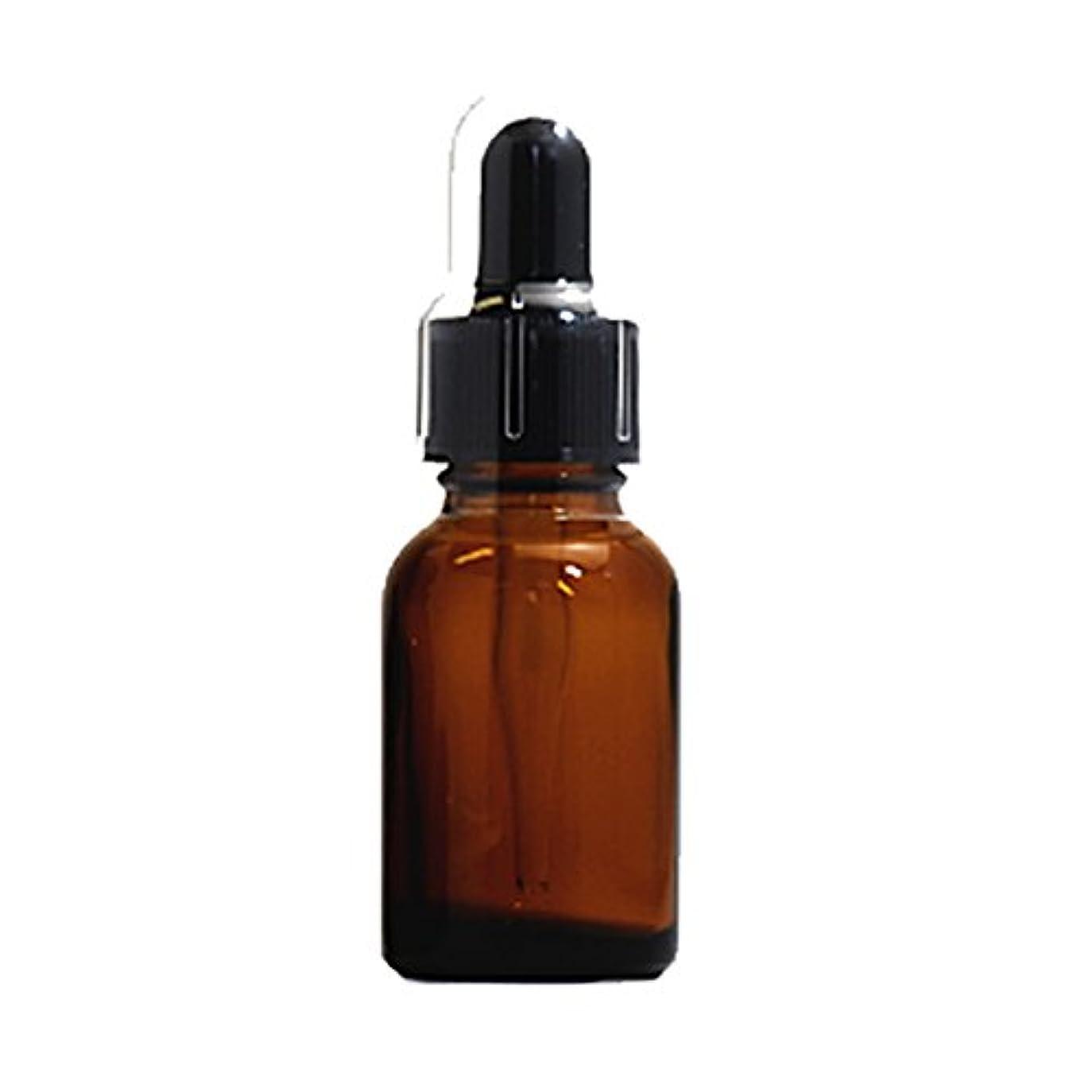 振る舞いカブ申し立てるスポイトキャップ付茶色遮光瓶20ml(黒/ガラススポイトキャップ付/オーバーキャップ付)