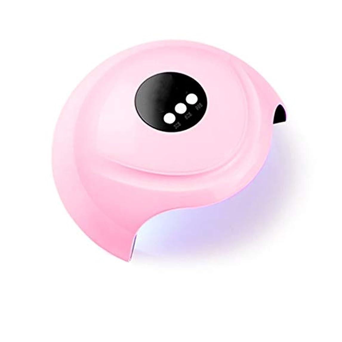 磁石議題重量LittleCat スマートセンサ36WランプLED / UVライトセラピーランプ3ギヤ自動時限ヒートランプUSBポーランドガムネイル (色 : Pink sensorless LCD)