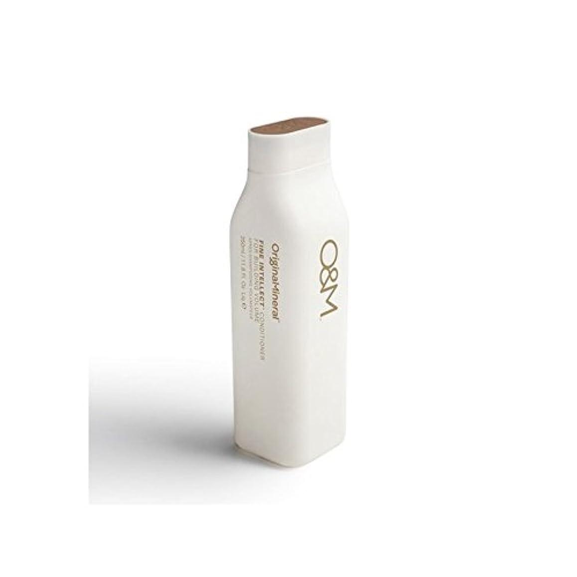 排気関係するもっと少なくオリジナル&ミネラル細かい知性コンディショナー(350ミリリットル) x4 - Original & Mineral Fine Intellect Conditioner (350ml) (Pack of 4) [並行輸入品]