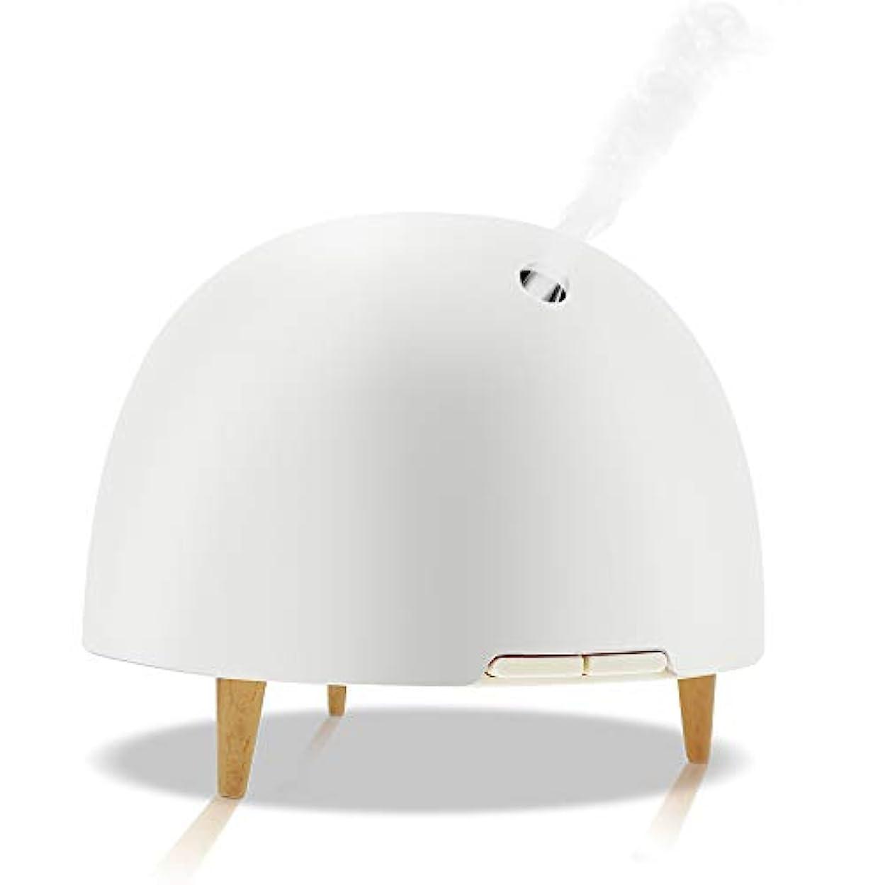 統合するキャンドル挑発する純粋なエッセンシャルオイルアロマテラピーマシン、アロマテラピーエッセンシャルオイルディフューザークールミスト加湿器7色ライト、家庭用、仕事,White