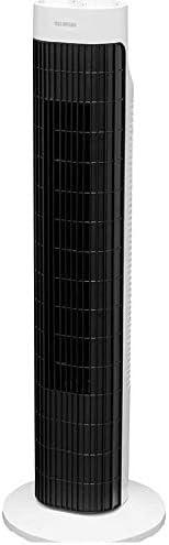 アイリスオーヤマ 扇風機 タワーファン スリム 左右自動首振り パワフル送風 風量3段階 タイマー付き メカ式 ホワイト TWF-M73