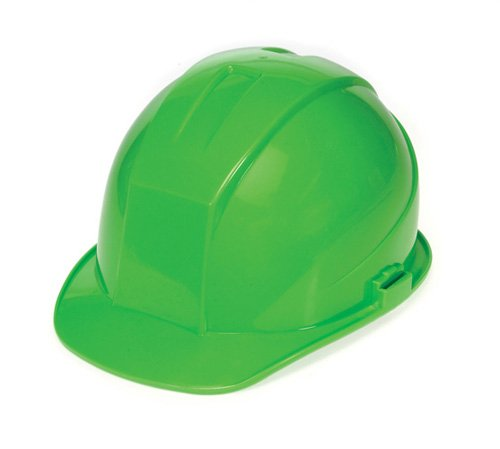 Liberty DuraShell HDPE Cap Style Hard Hat with 4 Point Ratchet Suspension, Hi-Vis Green (Case of 6) by Liberty Glove & Safety