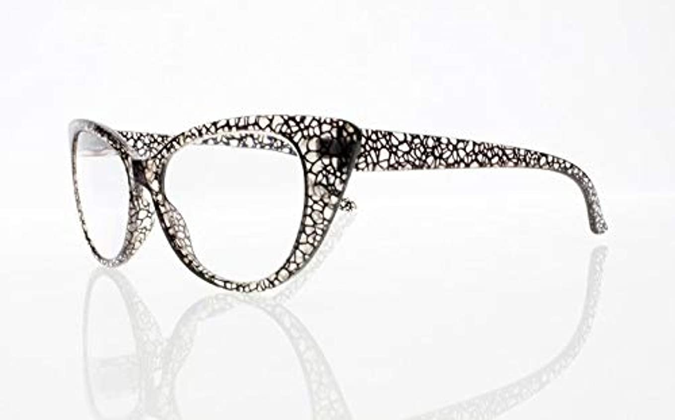 FidgetGear 女性レトロビンテージ猫目亀9色老眼鏡リーダー+ 1.0?+ 4.0 グレー