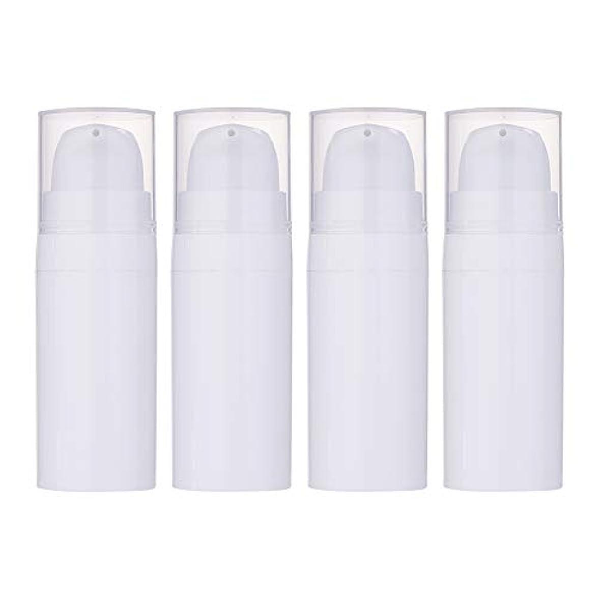失われた良い酸化するBENECREAT 10個セット10ml真空ポンプボトル 空ボトル クリーム 化粧水ボトル 化粧品小分けボトル 詰め替えボトル トラベル 白色