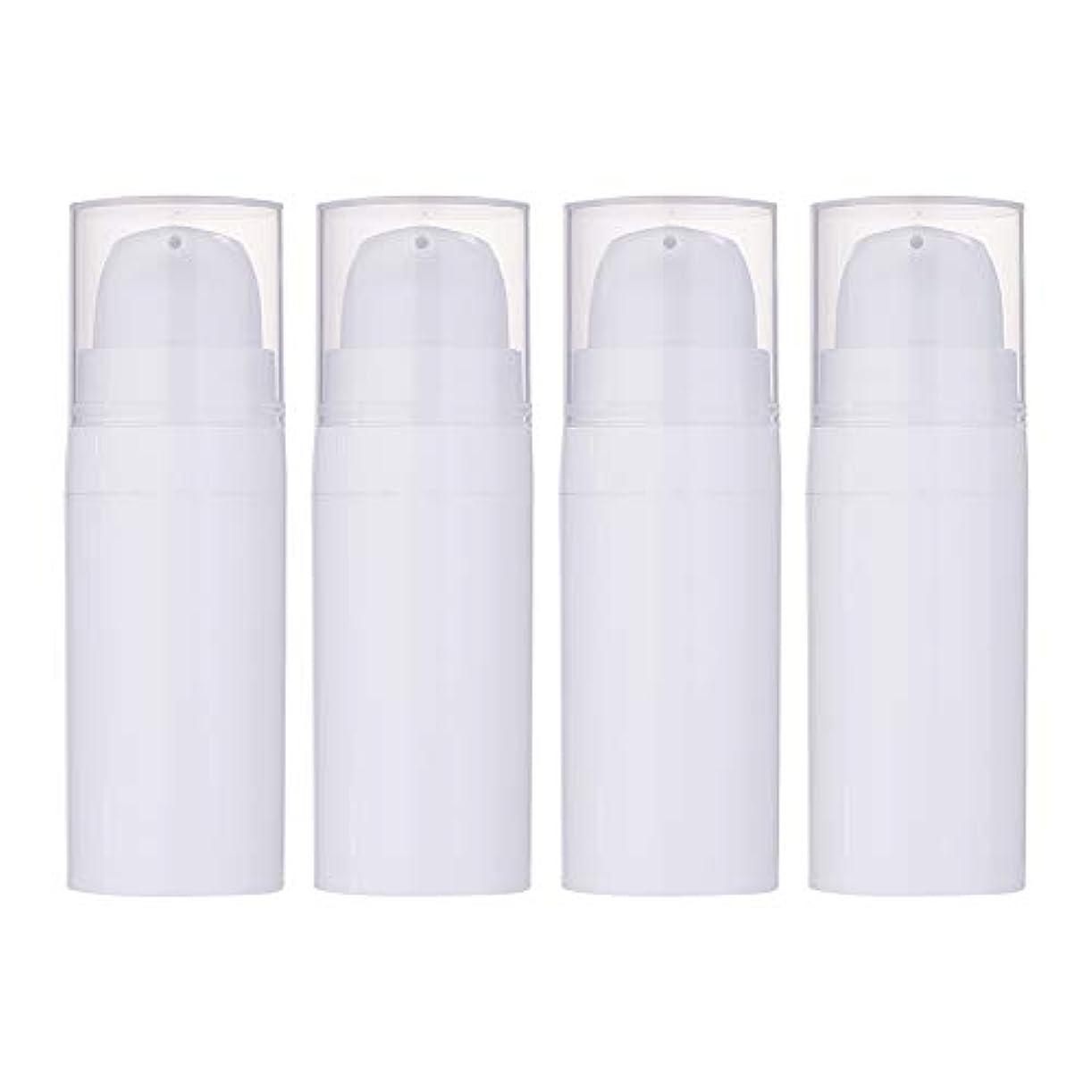 敬白鳥モットーBENECREAT 10個セット10ml真空ポンプボトル 空ボトル クリーム 化粧水ボトル 化粧品小分けボトル 詰め替えボトル トラベル 白色