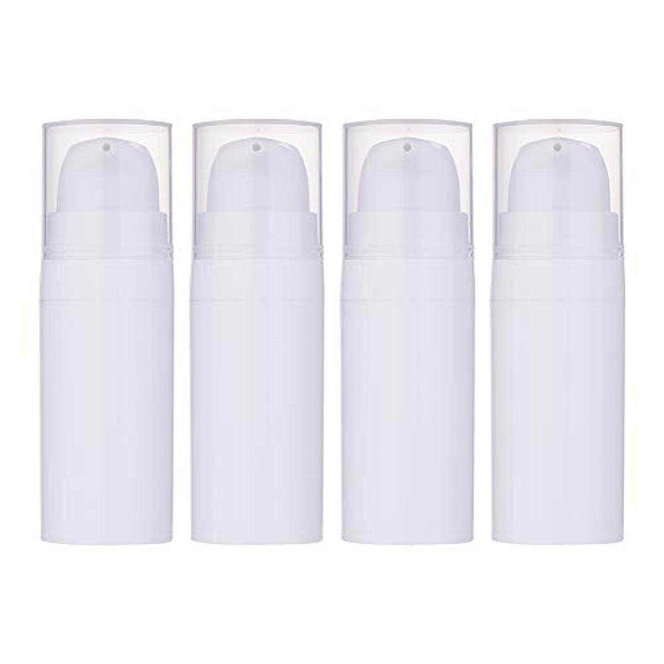 カスタム不倫単調なBENECREAT 10個セット10ml真空ポンプボトル 空ボトル クリーム 化粧水ボトル 化粧品小分けボトル 詰め替えボトル トラベル 白色