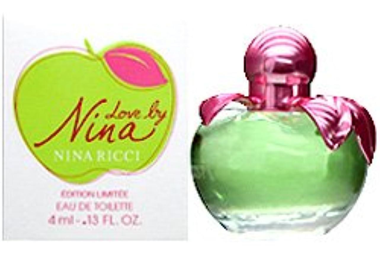 フロンティア地平線アミューズメントニナリッチ ラブバイニナ ミニ香水 EDT4ml NINA RICCI [並行輸入品]