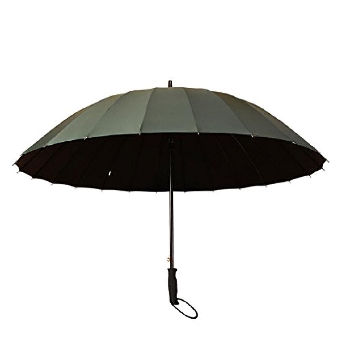 進捗看板顕著防風傘男性女性軽量防水DurableUmbrella強い24繊維肋骨老人ウォーキングスティック傘 (色 : D)