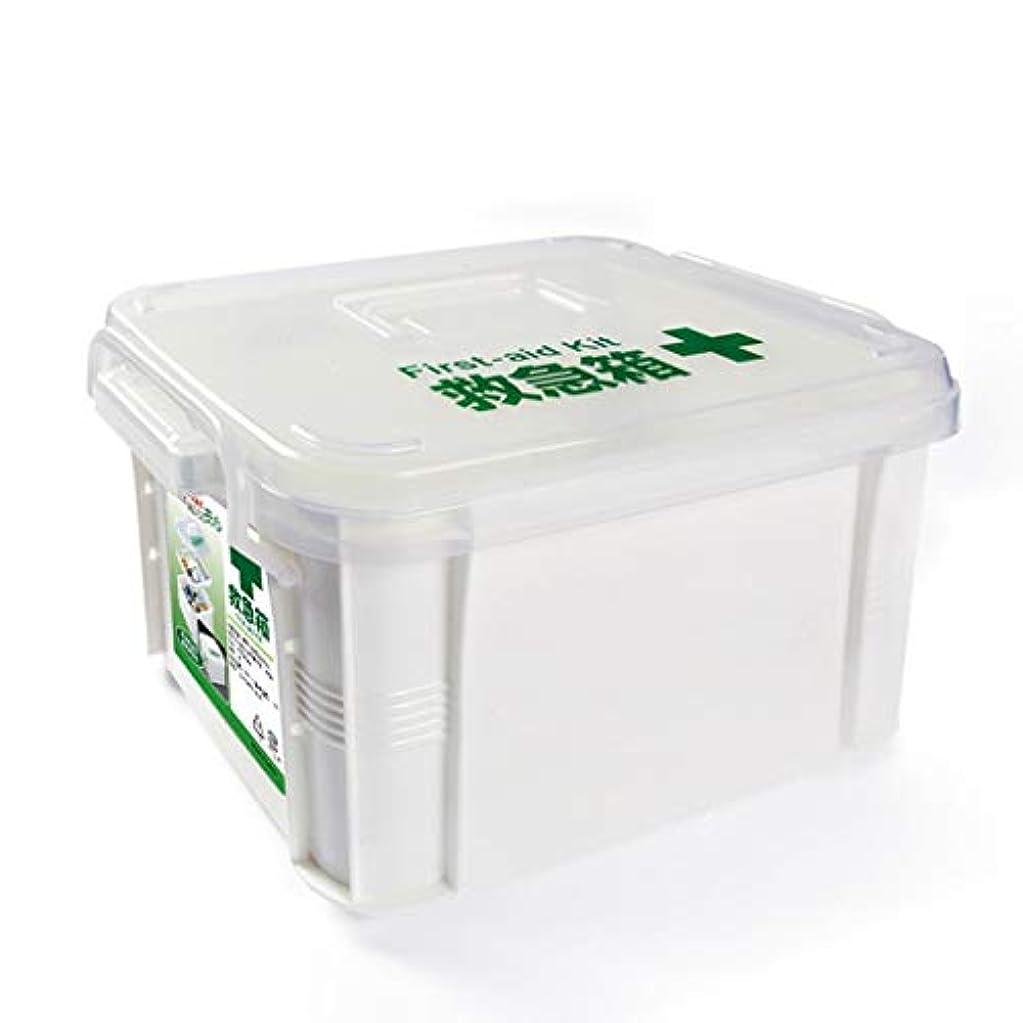 ロータリー弾丸弾丸JJJJD 二重層の医療用箱、プラスチック透明箱の救急箱、丸薬容器の箱
