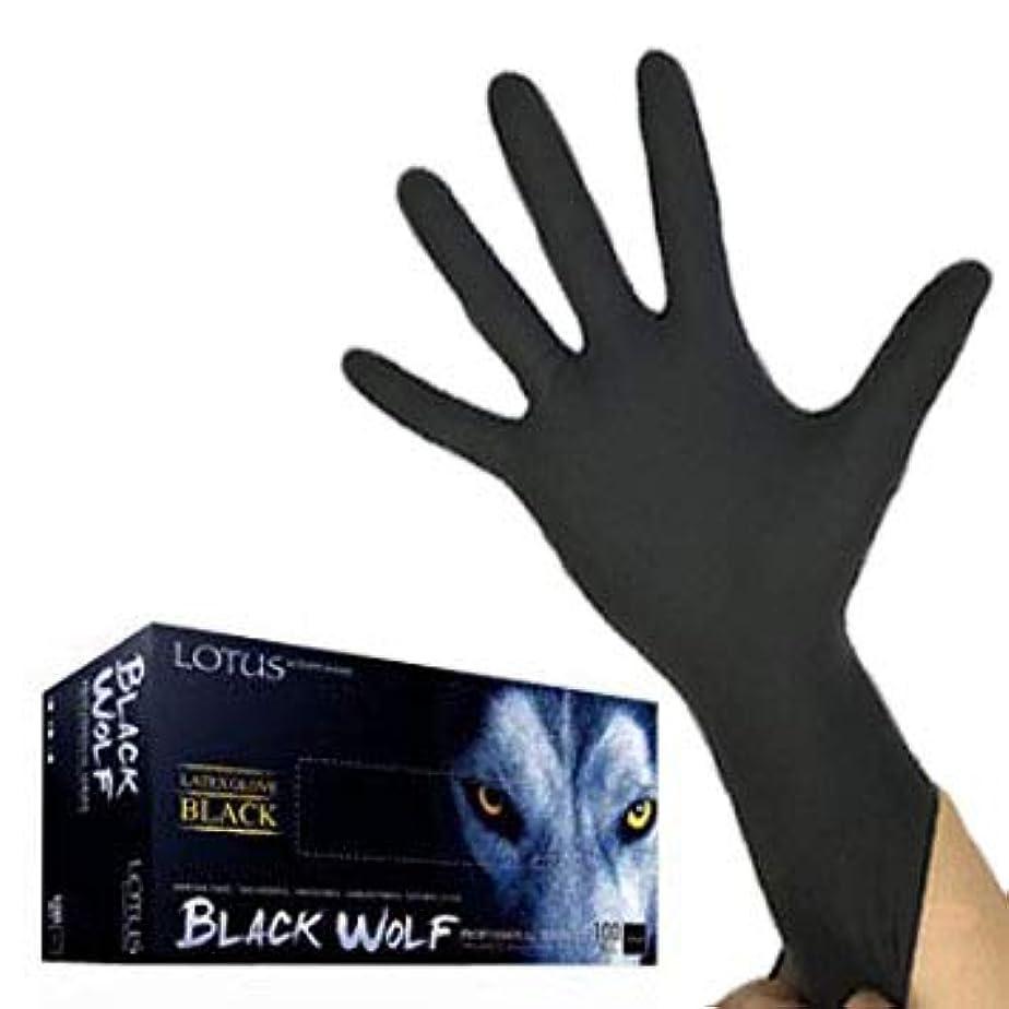 お金先駆者名目上の(ロータス)LOTUS ブラックウルフ (ラテックス グローブ 薄手 左右兼用100枚入) (M)