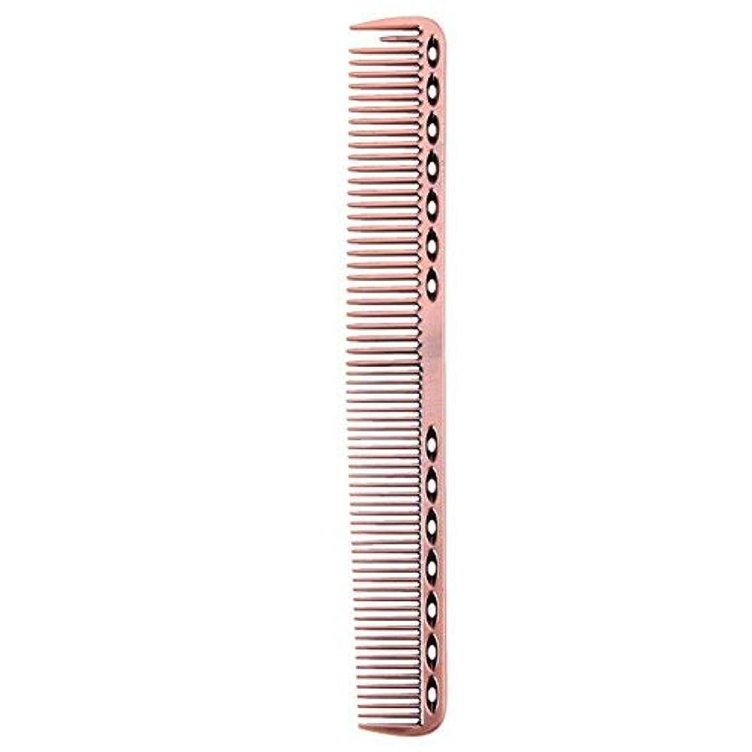 アライメント守銭奴ファイアルCoobbar 1pcs Anti-static Stainless Steel Hair Combs Hair Styling Hairdressing Barbers Combs (Rose Gold) [並行輸入品]