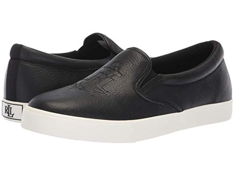 [LAUREN Ralph Lauren(ローレンラルフローレン)] レディースウォーキングシューズ?カジュアルスニーカー?靴 Ricci Black Tumbled Leather 6.5 (23.5cm) B - Medium