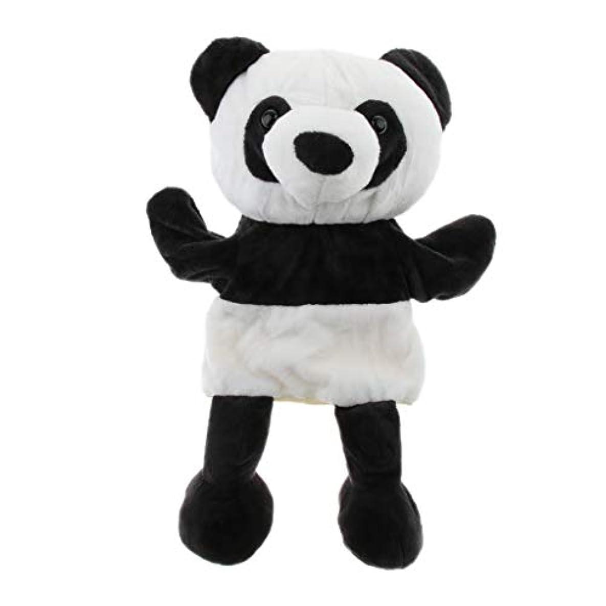 敵対的みがきます良い7色選ぶ ぬいぐるみ 動物人形 ハンドパペット 想像力開発 人形劇 人形舞台 ふり遊びおもちゃ - パンダ