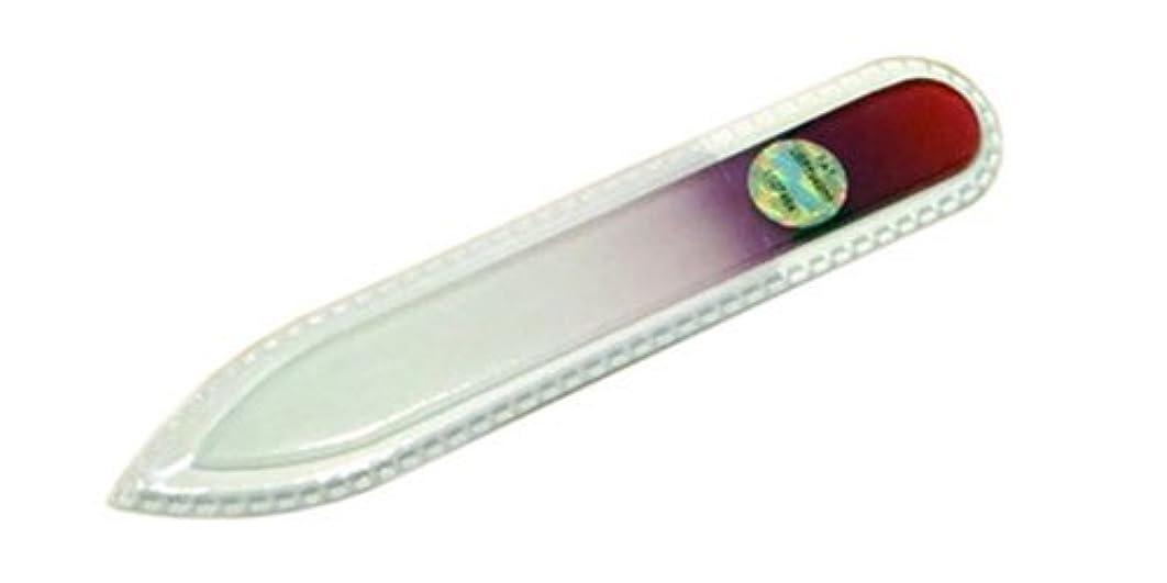 ショートカット神経衰弱ポルティコブラジェク ガラス爪やすり 90mm 両面タイプ(パープルグラデーション #03)