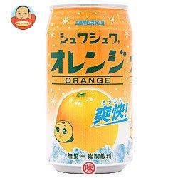 サンガリア シュワシュワオレンジ350g缶×24本入