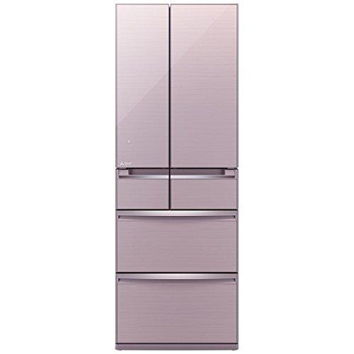三菱 517L 6ドア冷蔵庫(クリスタルロゼ)MITSUBISHI 置けるスマート大容量 MR-WX52A-P