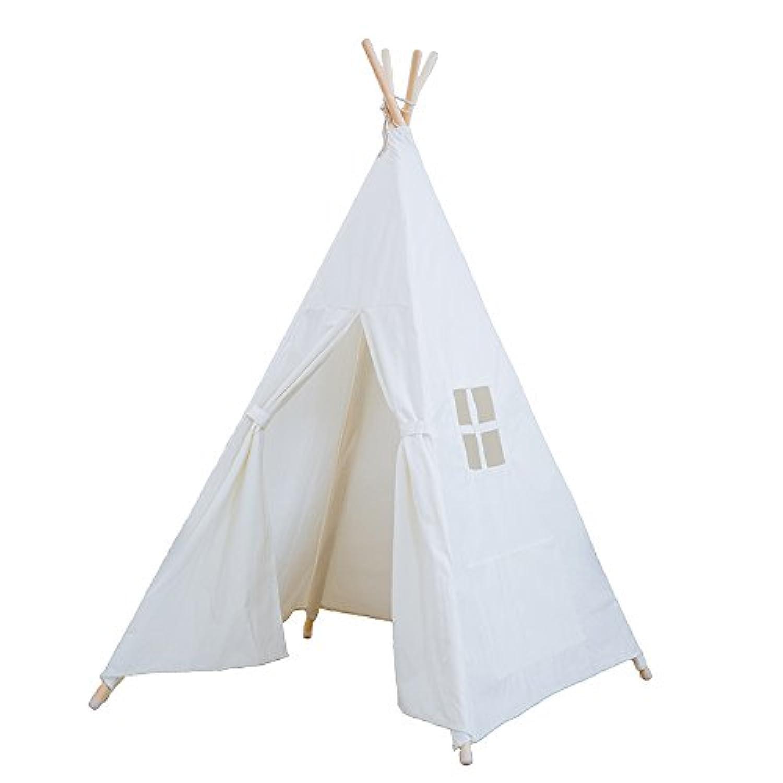 2017 RONGFA ポケット子供の屋内テント付き白い4極の窓