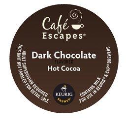 KEURIG Kカップ  Cafe Escapes*ダークチョコレート ホットココア(24個)【並行輸入品】 KEURIG