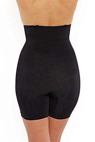 Nancy Ganz Women's Seamless Seduction High Waist Short, Black, XX-Large