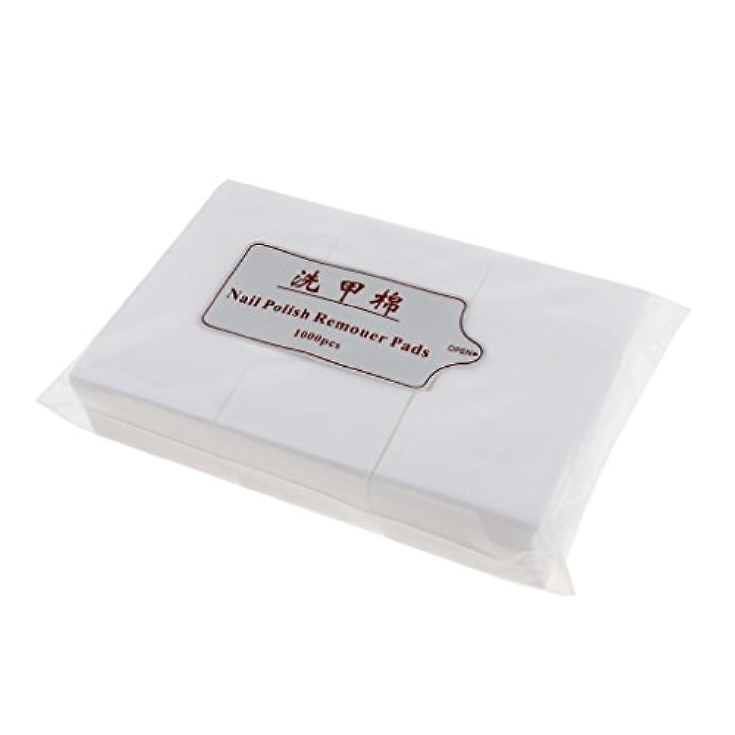 Perfk 約1000個 ネイルコットンパッド ネイルアートチップ パッド紙 マニキュア 吸水性 衛生的 ネイルサロン