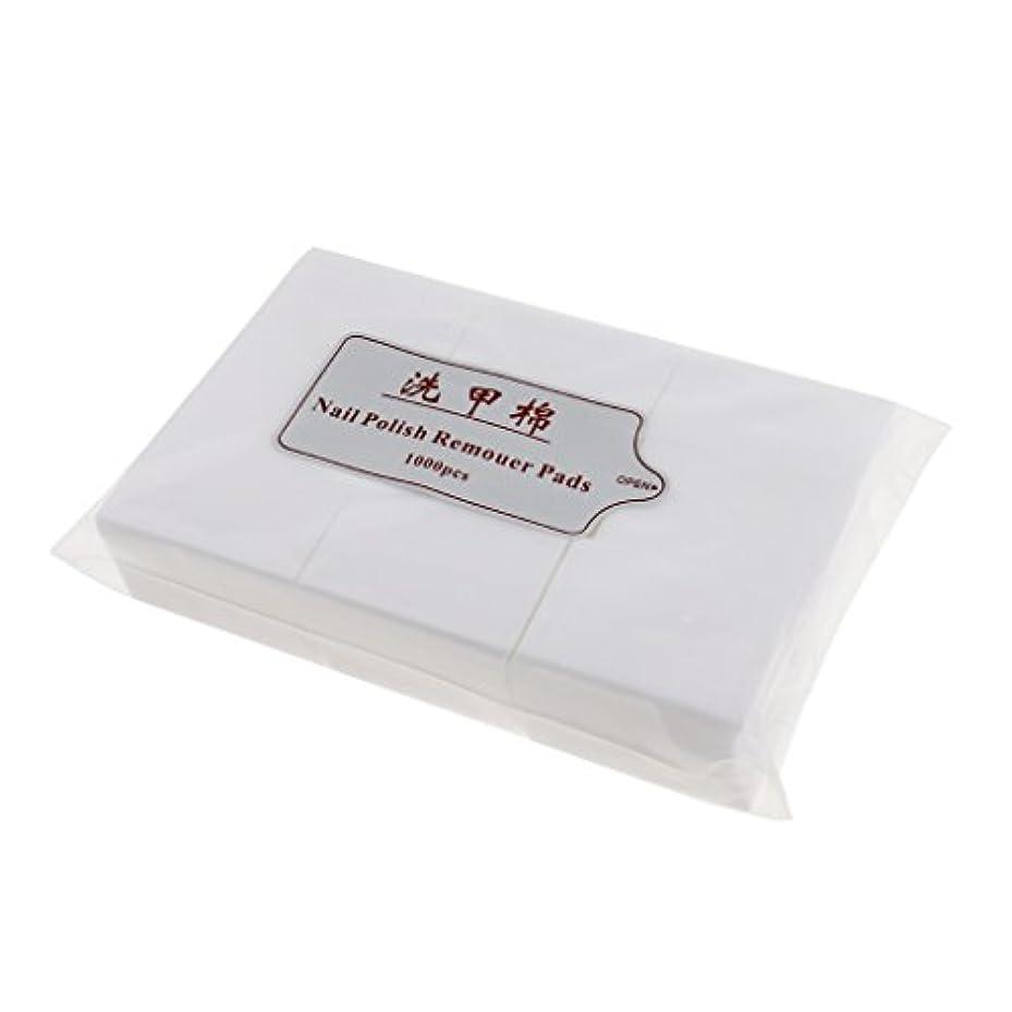 怠感収容する明るい約1000個 ネイルコットンパッド ネイルアートチップ パッド紙 マニキュア 吸水性 衛生的 ネイルサロン