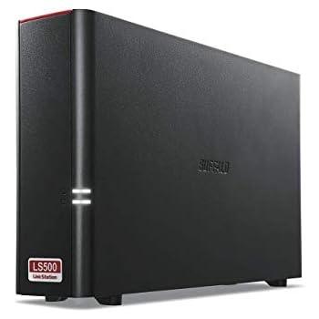 BUFFALO NAS スマホ/タブレット/PC対応/ブラック ネットワークHDD 2TB LS510D0201G 【同時アクセスでも快適な高速モデル】