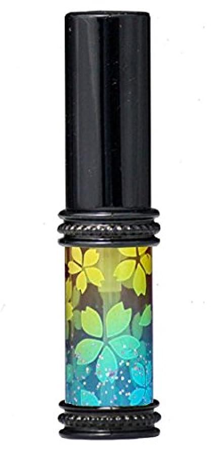 ガラガラひねり相反するヒロセアトマイザー メタルラメさくらアトマイザー 16178 YE/BL(メタルラメさくら イエロー/ブルー) 真鍮玉レット飾り付