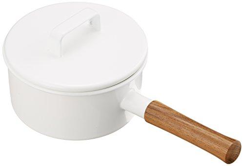 富士ホーロー 鍋 エトル ソースパン17cm ホワイト EE-...